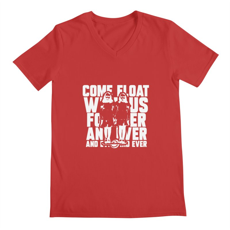Come Float With Us - White Men's V-Neck by Stoke Butter - Spread the Stoke