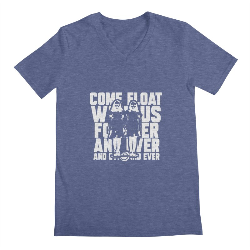 Come Float With Us - White Men's Regular V-Neck by Stoke Butter - Spread the Stoke