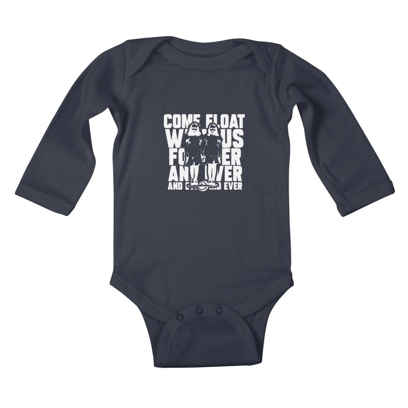 Come Float With Us - White Kids Baby Longsleeve Bodysuit by Stoke Butter - Spread the Stoke