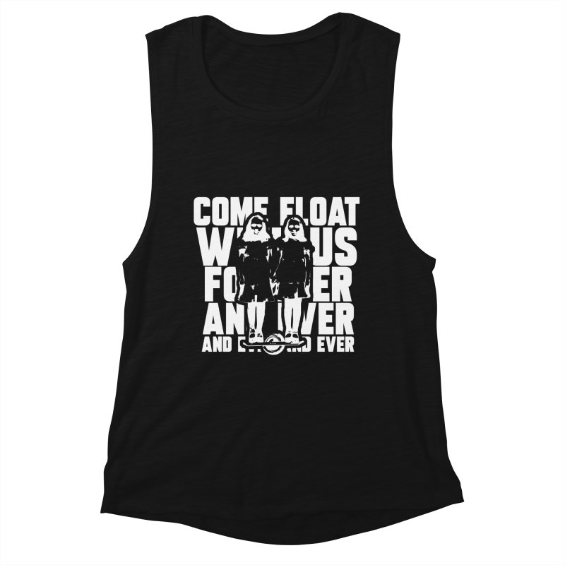 Come Float With Us - White Women's Tank by Stoke Butter - Spread the Stoke