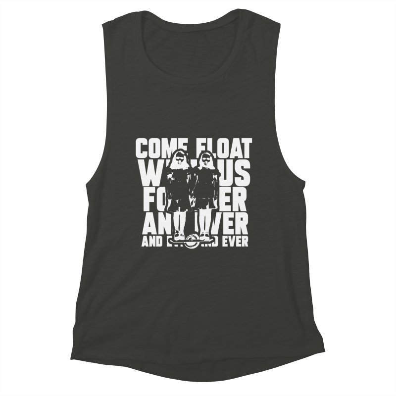 Come Float With Us - White Women's Muscle Tank by Stoke Butter - Spread the Stoke