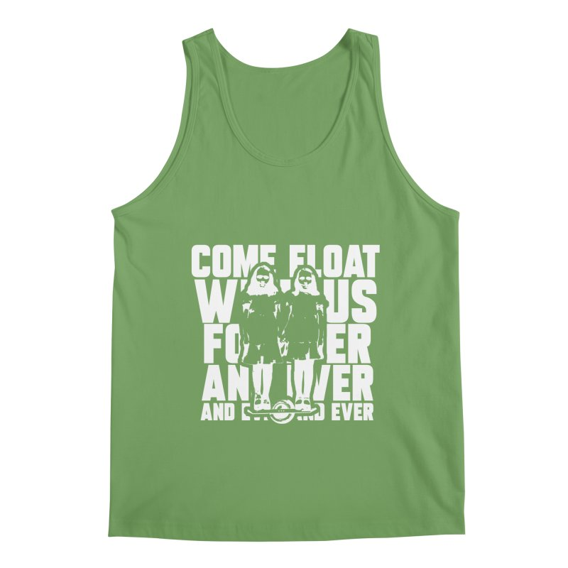 Come Float With Us - White Men's Tank by Stoke Butter - Spread the Stoke