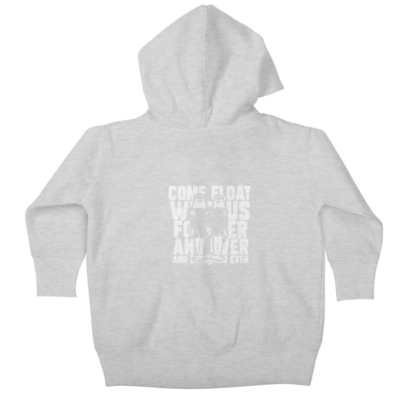 Come Float With Us - White Kids Baby Zip-Up Hoody by Stoke Butter - Spread the Stoke