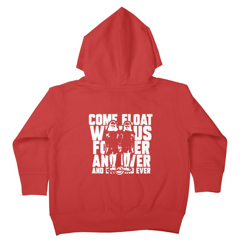 Come Float With Us - White Kids Toddler Zip-Up Hoody by Stoke Butter - Spread the Stoke
