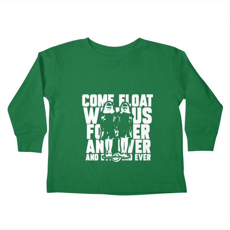 Come Float With Us - White Kids Toddler Longsleeve T-Shirt by Stoke Butter - Spread the Stoke