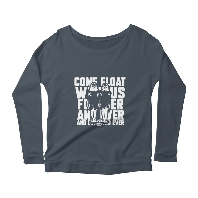 Come Float With Us - White Women's Scoop Neck Longsleeve T-Shirt by Stoke Butter - Spread the Stoke