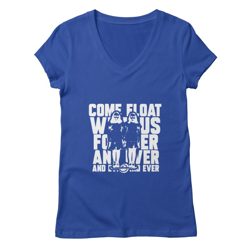 Come Float With Us - White Women's Regular V-Neck by Stoke Butter - Spread the Stoke
