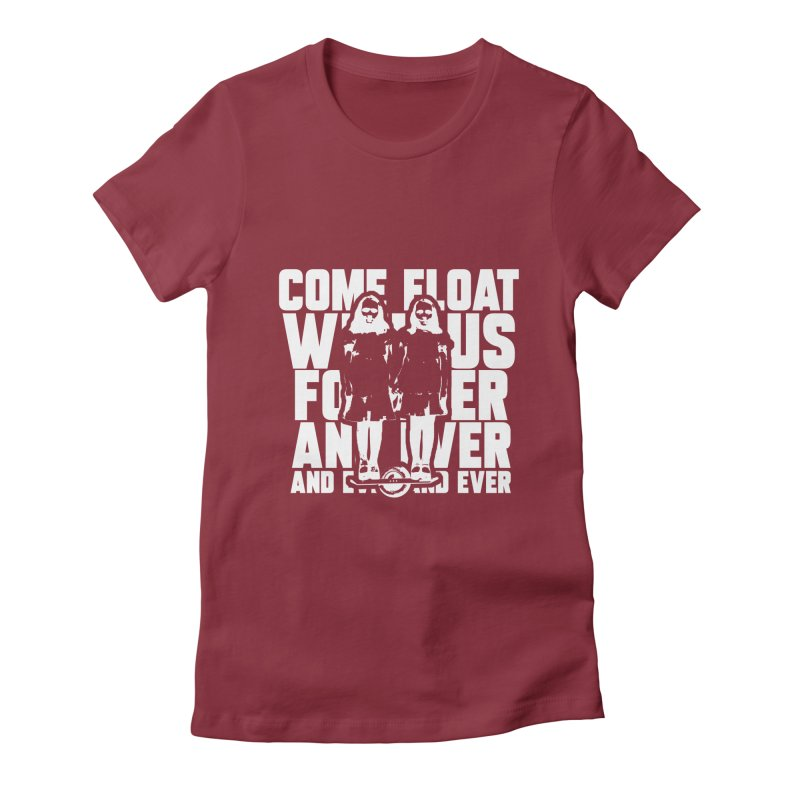 Come Float With Us - White Women's Fitted T-Shirt by Stoke Butter - Spread the Stoke