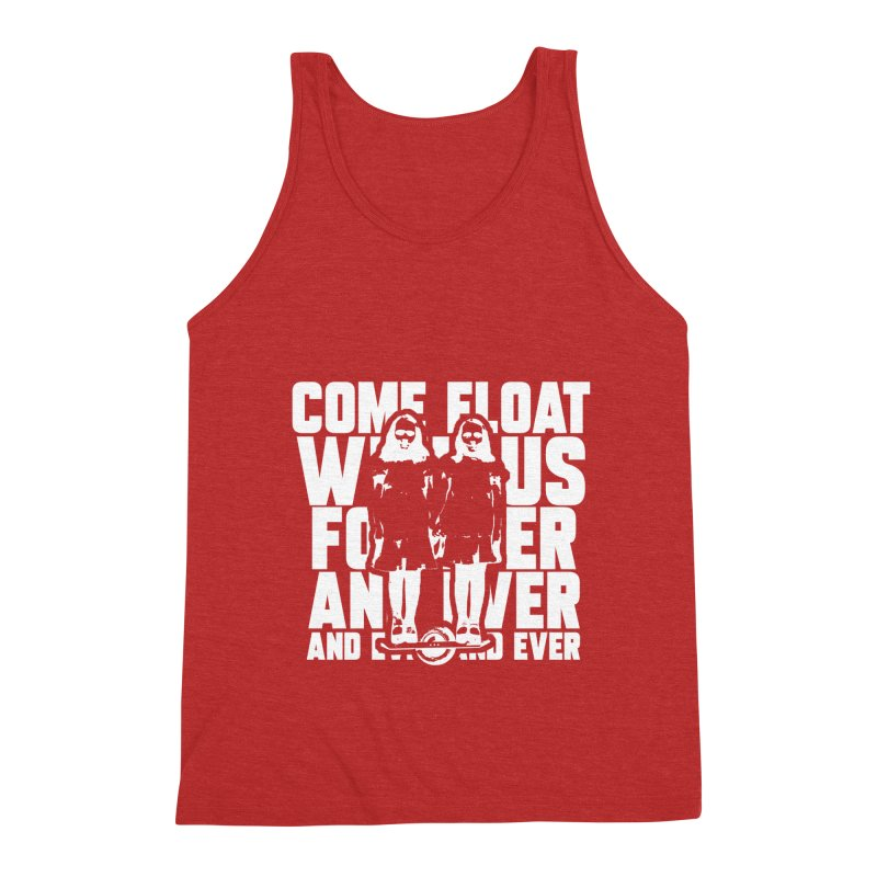 Come Float With Us - White Men's Triblend Tank by Stoke Butter - Spread the Stoke