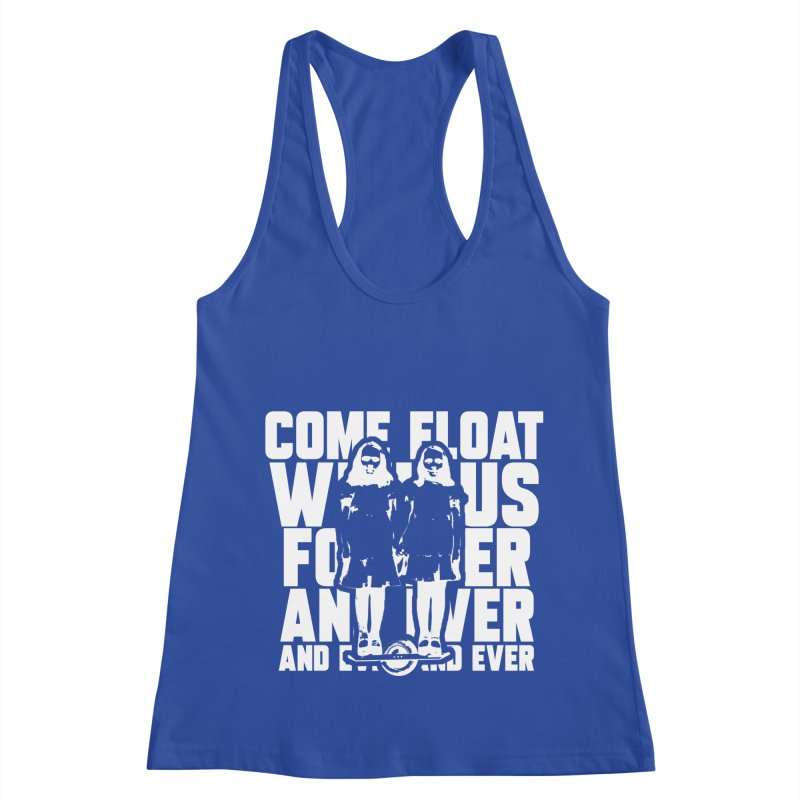 Come Float With Us - White Women's Racerback Tank by Stoke Butter - Spread the Stoke
