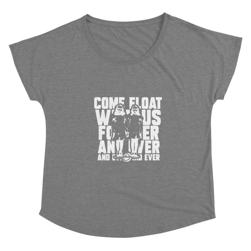 Come Float With Us - White Women's Scoop Neck by Stoke Butter - Spread the Stoke