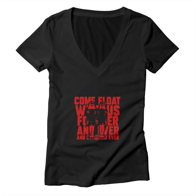 Come Float With Us - Red Women's V-Neck by Stoke Butter - Spread the Stoke