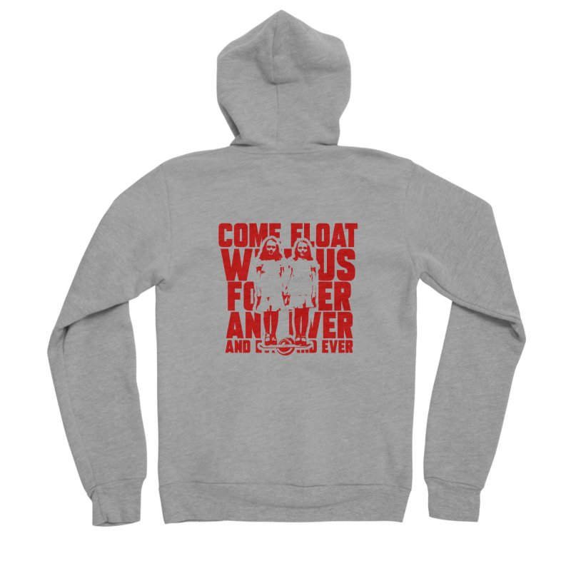 Come Float With Us - Red Women's Sponge Fleece Zip-Up Hoody by Stoke Butter - Spread the Stoke