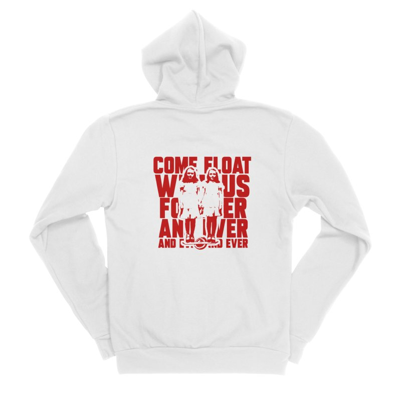 Come Float With Us - Red Men's Sponge Fleece Zip-Up Hoody by Stoke Butter - Spread the Stoke