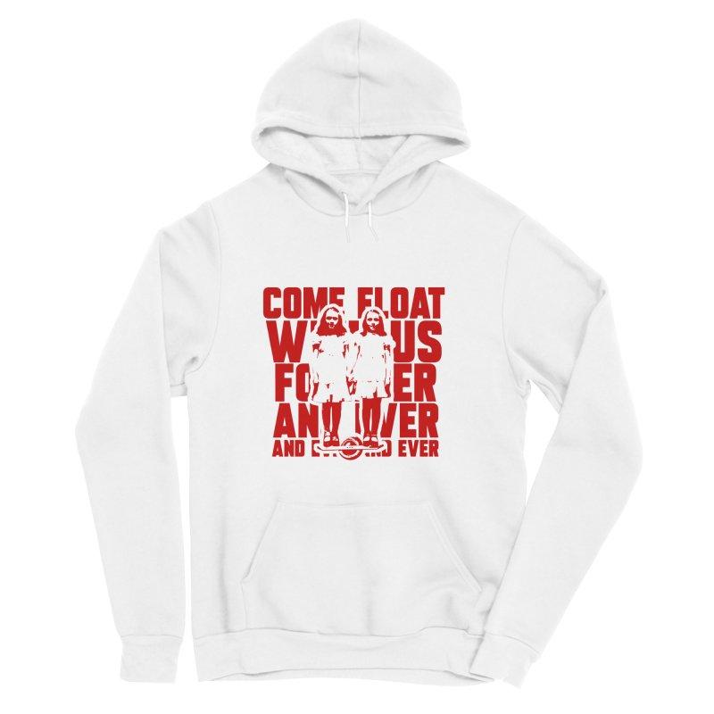 Come Float With Us - Red Women's Sponge Fleece Pullover Hoody by Stoke Butter - Spread the Stoke