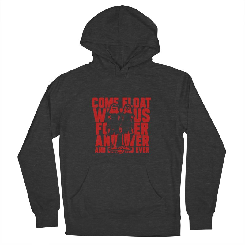 Come Float With Us - Red Women's French Terry Pullover Hoody by Stoke Butter - Spread the Stoke