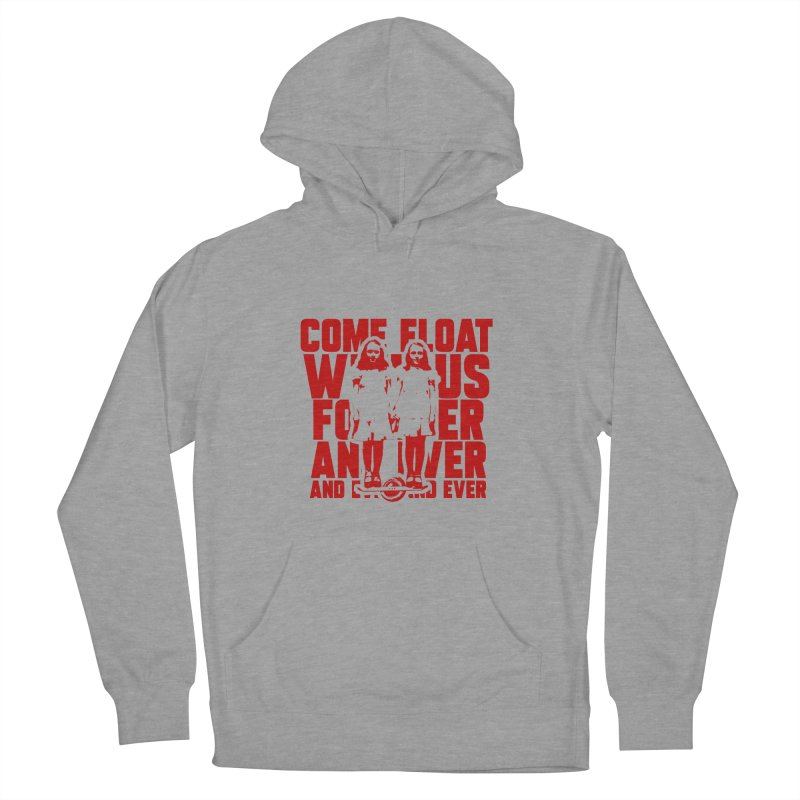 Come Float With Us - Red Men's French Terry Pullover Hoody by Stoke Butter - Spread the Stoke