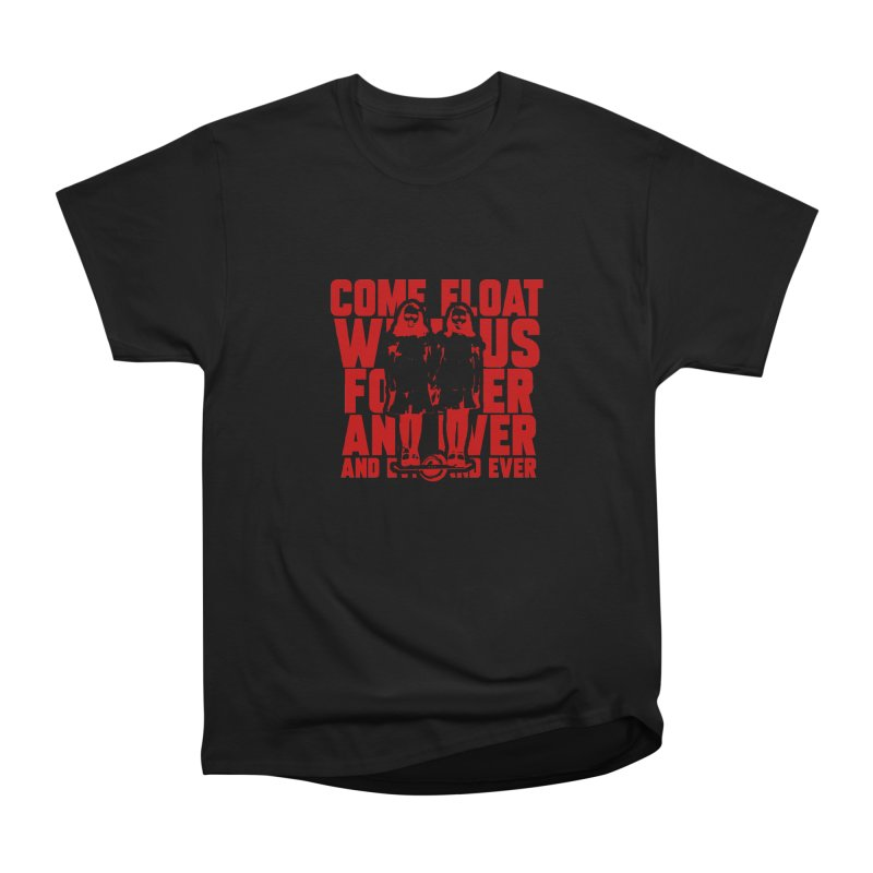 Come Float With Us - Red Men's Heavyweight T-Shirt by Stoke Butter - Spread the Stoke