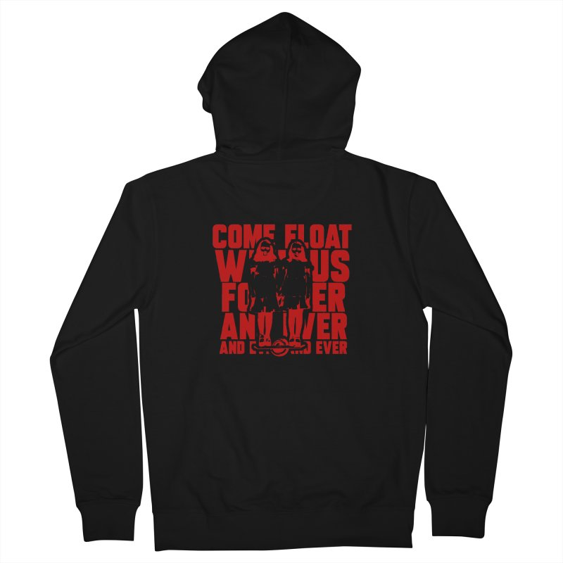Come Float With Us - Red Men's French Terry Zip-Up Hoody by Stoke Butter - Spread the Stoke