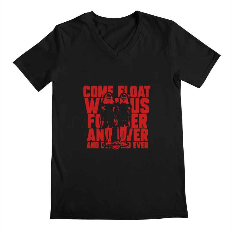 Come Float With Us - Red Men's Regular V-Neck by Stoke Butter - Spread the Stoke