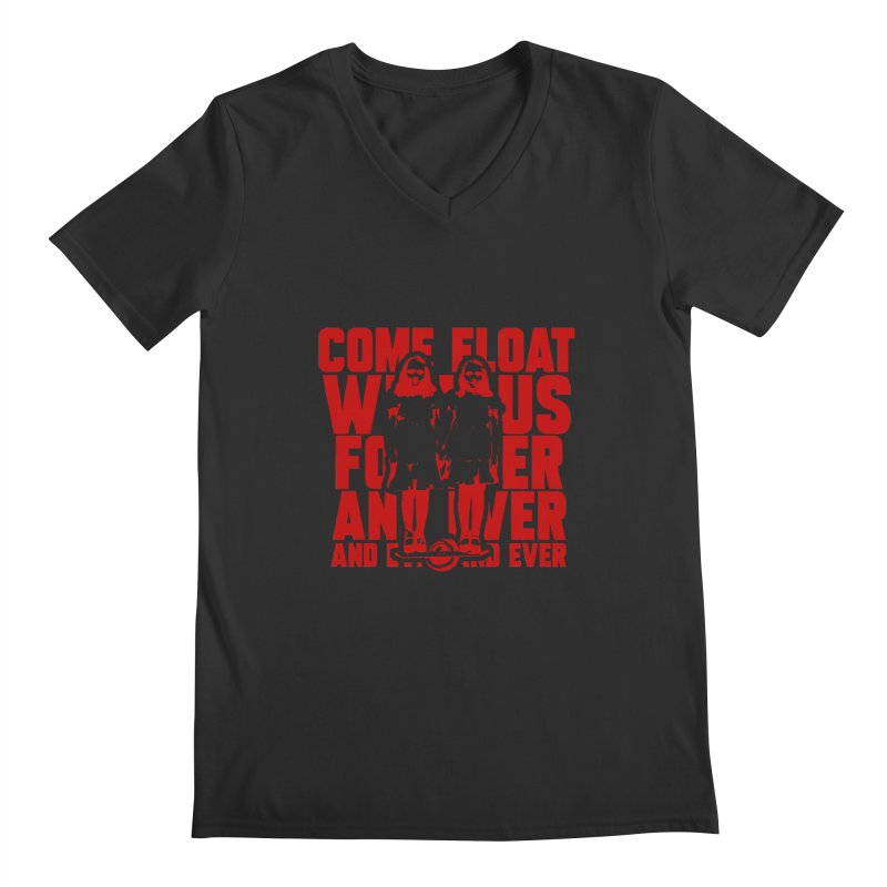 Come Float With Us - Red Men's V-Neck by Stoke Butter - Spread the Stoke