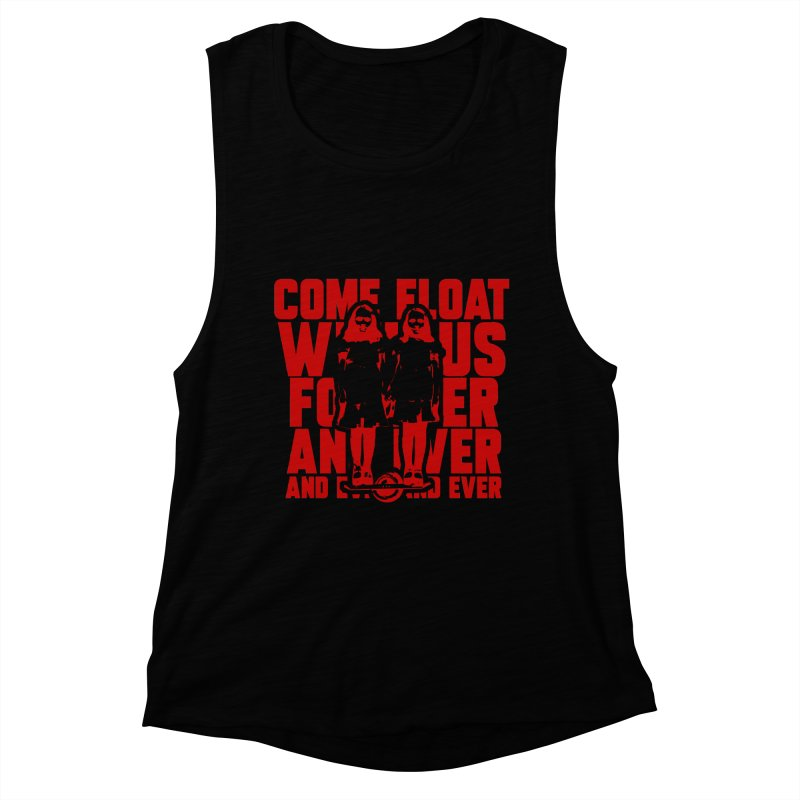 Come Float With Us - Red Women's Muscle Tank by Stoke Butter - Spread the Stoke