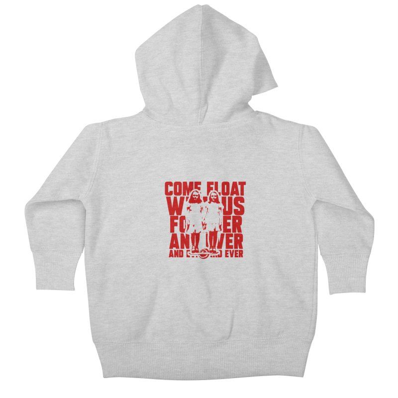 Come Float With Us - Red Kids Baby Zip-Up Hoody by Stoke Butter - Spread the Stoke