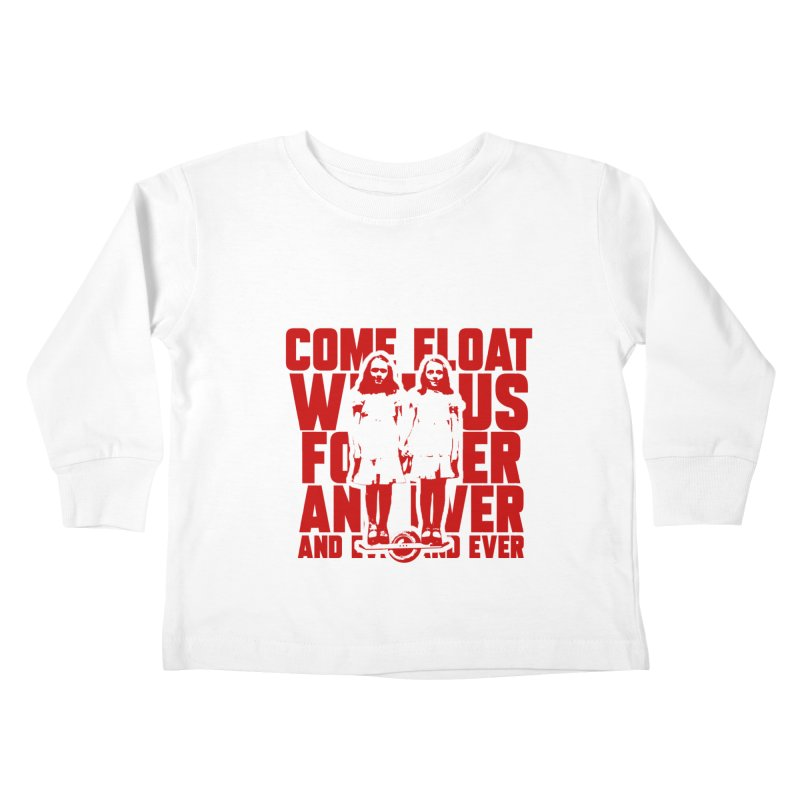 Come Float With Us - Red Kids Toddler Longsleeve T-Shirt by Stoke Butter - Spread the Stoke