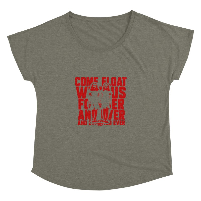 Come Float With Us - Red Women's Dolman Scoop Neck by Stoke Butter - Spread the Stoke
