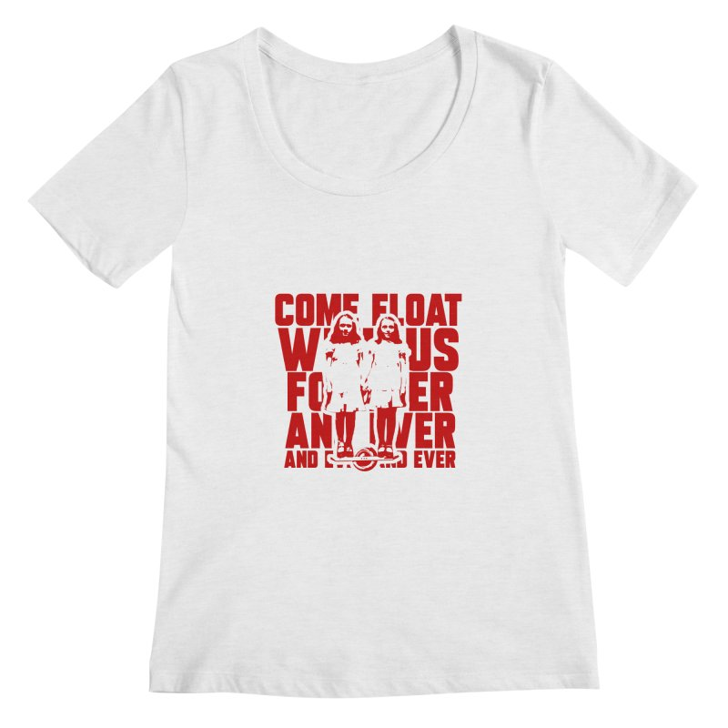 Come Float With Us - Red Women's Regular Scoop Neck by Stoke Butter - Spread the Stoke