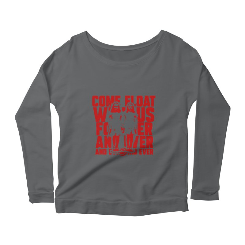Come Float With Us - Red Women's Scoop Neck Longsleeve T-Shirt by Stoke Butter - Spread the Stoke