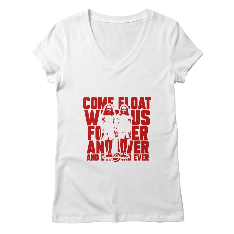 Come Float With Us - Red Women's Regular V-Neck by Stoke Butter - Spread the Stoke