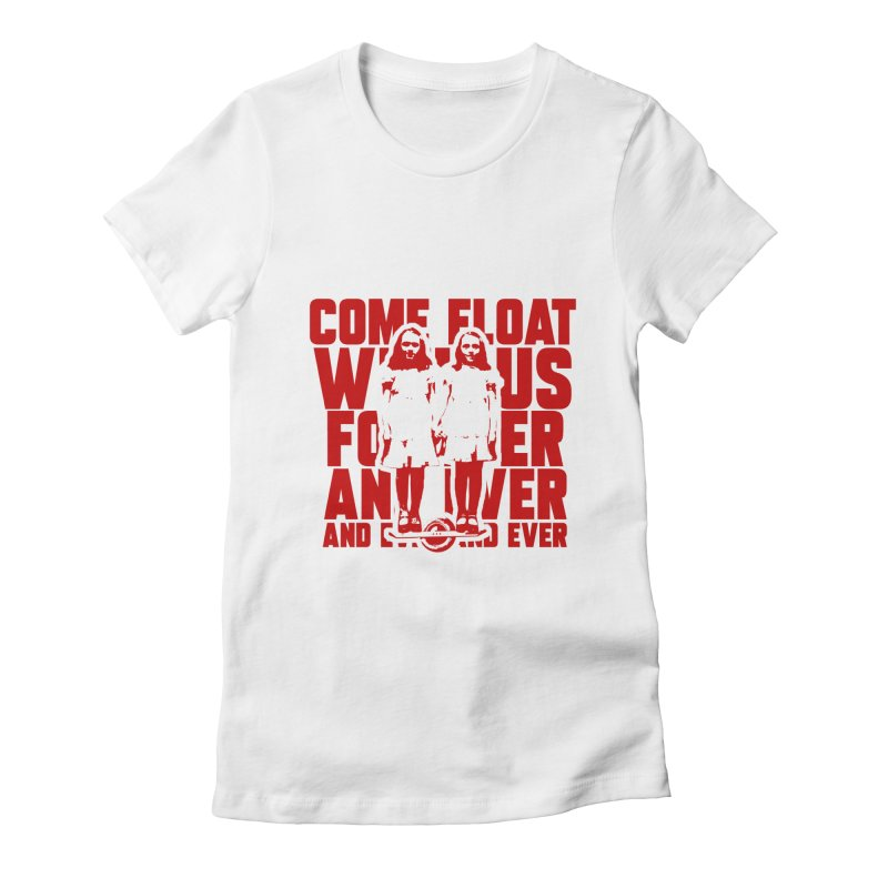 Come Float With Us - Red Women's Fitted T-Shirt by Stoke Butter - Spread the Stoke