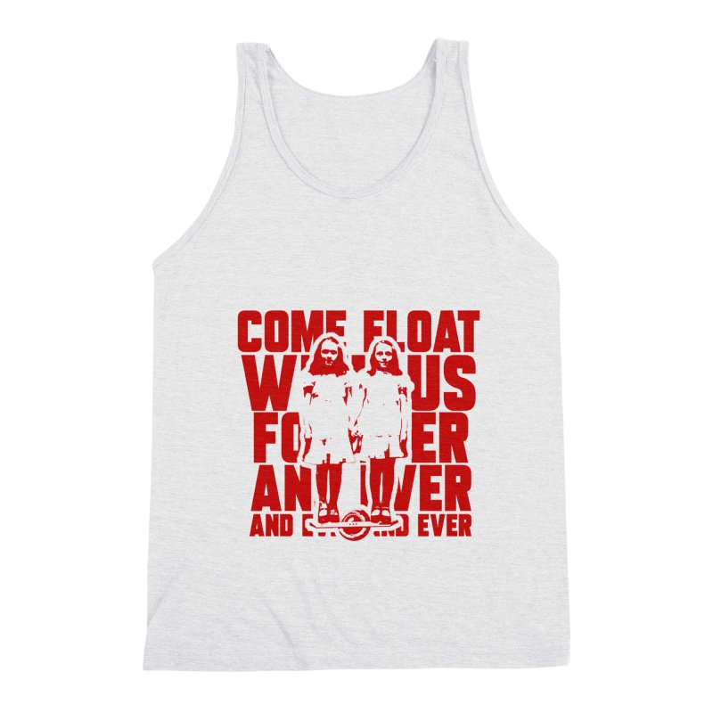Come Float With Us - Red Men's Triblend Tank by Stoke Butter - Spread the Stoke
