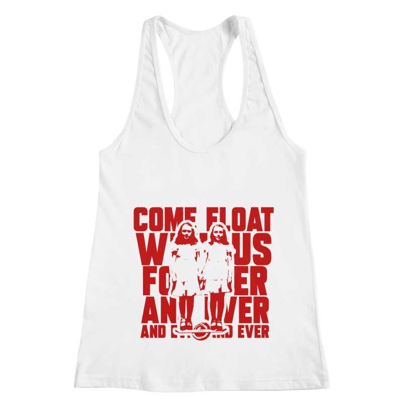 Come Float With Us - Red Women's Racerback Tank by Stoke Butter - Spread the Stoke