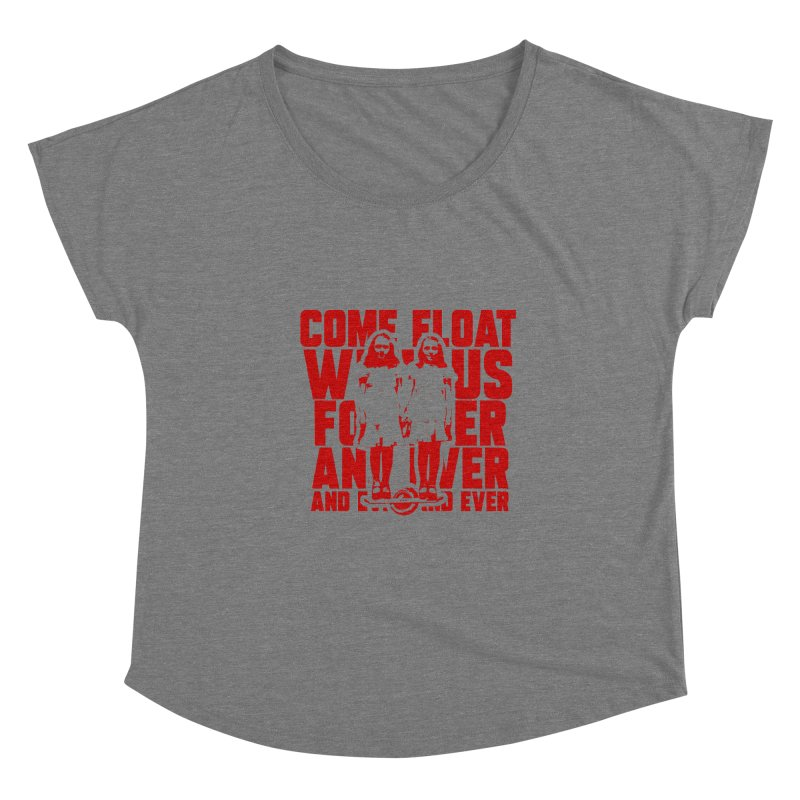 Come Float With Us - Red Women's Scoop Neck by Stoke Butter - Spread the Stoke