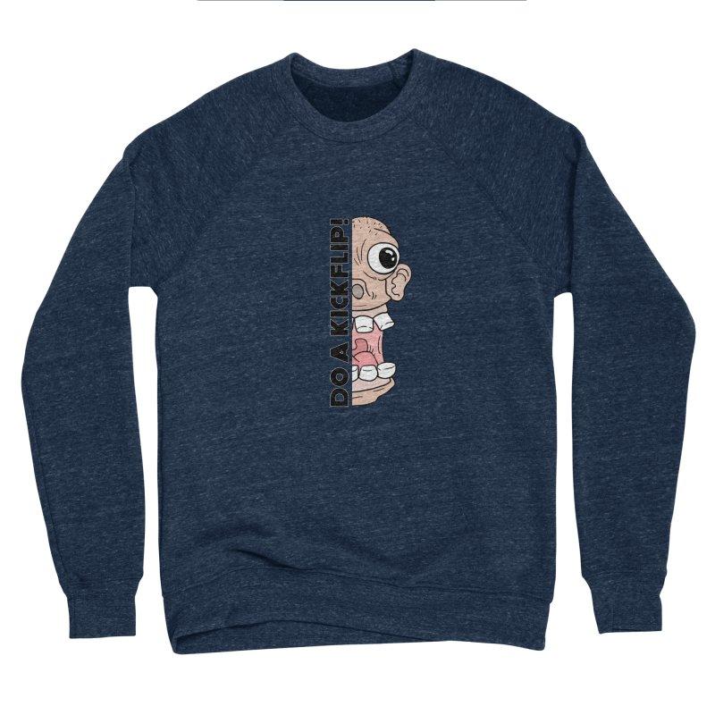 DO A KICKFLIP! - Black Text Men's Sponge Fleece Sweatshirt by Stoke Butter - Spread the Stoke