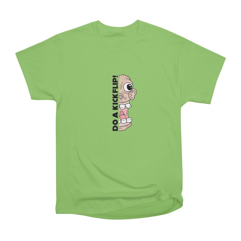 DO A KICKFLIP! - Black Text Men's Heavyweight T-Shirt by Stoke Butter - Spread the Stoke