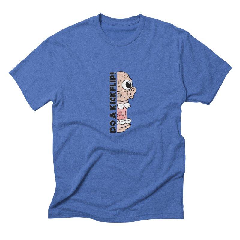 DO A KICKFLIP! - Black Text Men's Triblend T-Shirt by Stoke Butter - Spread the Stoke