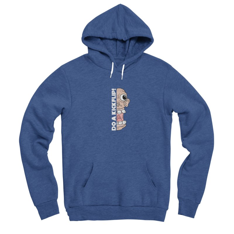 DO A KICKFLIP! - White Text Men's Pullover Hoody by Stoke Butter - Spread the Stoke