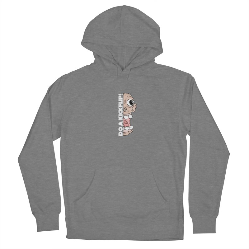 DO A KICKFLIP! - White Text Women's Pullover Hoody by Stoke Butter - Spread the Stoke