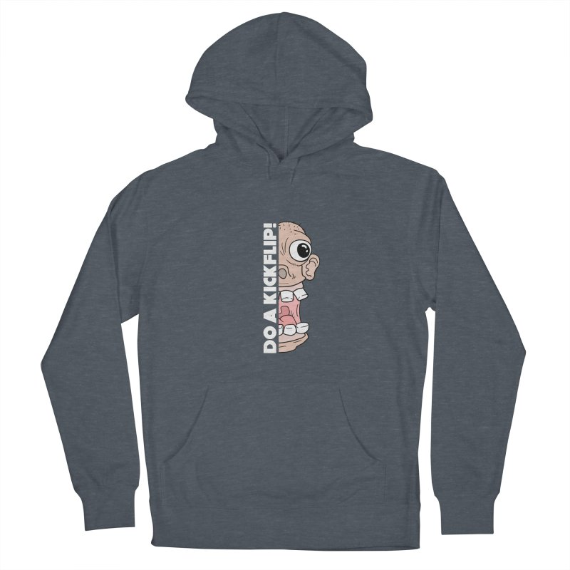 DO A KICKFLIP! - White Text Men's French Terry Pullover Hoody by Stoke Butter - Spread the Stoke