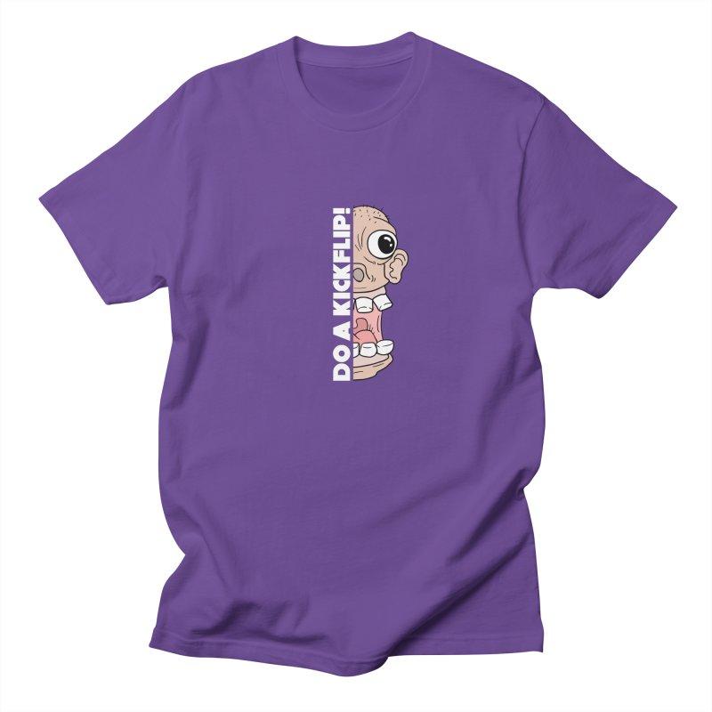 DO A KICKFLIP! - White Text Men's Regular T-Shirt by Stoke Butter - Spread the Stoke