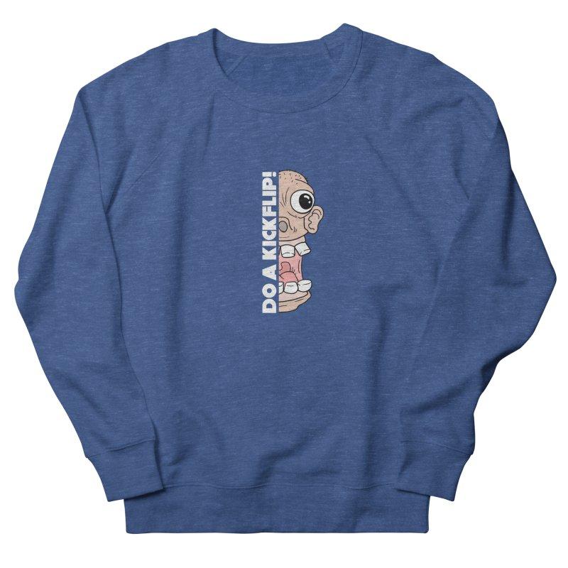 DO A KICKFLIP! - White Text Men's Sweatshirt by Stoke Butter - Spread the Stoke