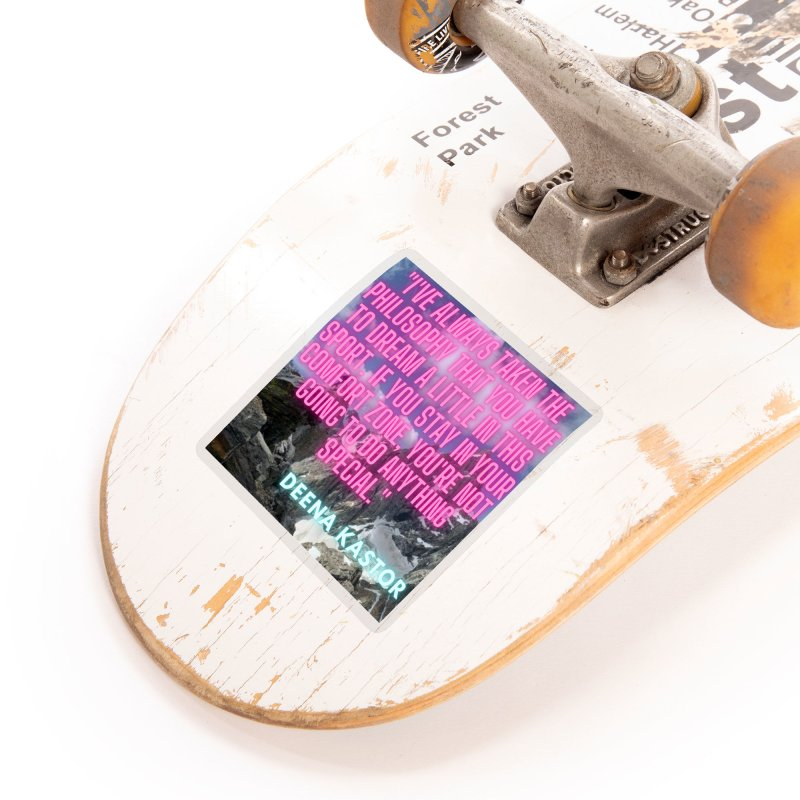 Deena Kastor Quote Accessories Sticker by stokedalpine's Artist Shop