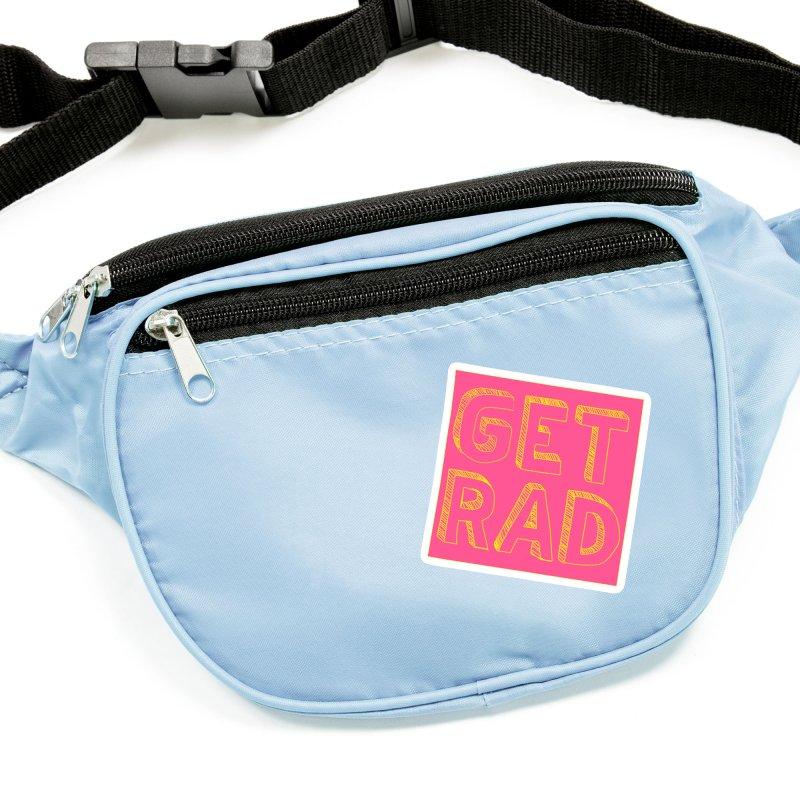 GET RAD- pink Accessories Sticker by stokedalpine's Artist Shop