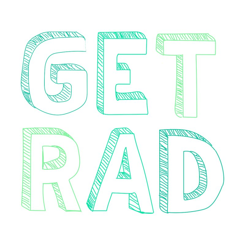 GET RAD- mint Men's V-Neck by stokedalpine's Artist Shop
