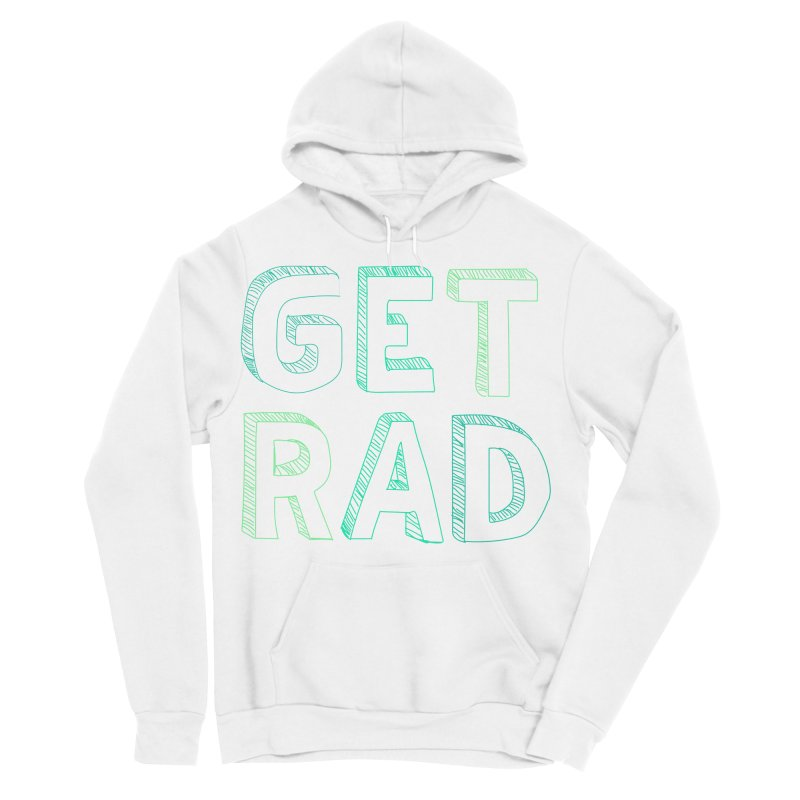 GET RAD- mint Men's Sponge Fleece Pullover Hoody by stokedalpine's Artist Shop