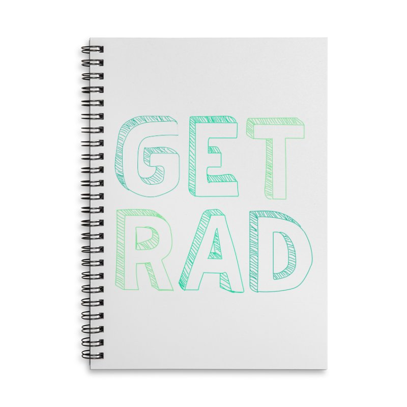 GET RAD- mint Accessories Lined Spiral Notebook by stokedalpine's Artist Shop