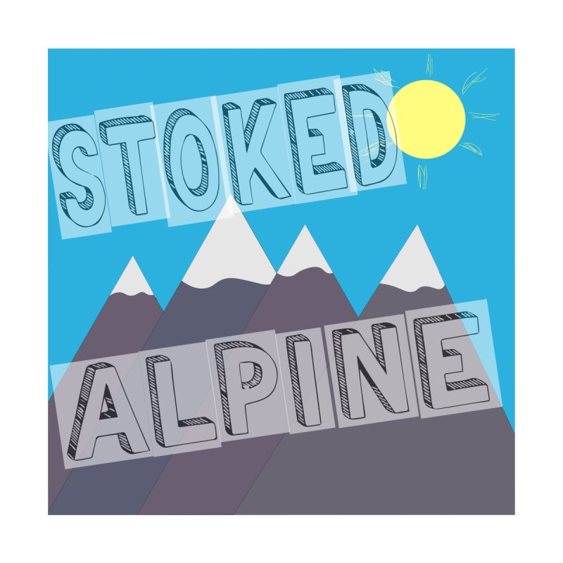 Stoked Alpine Logo Men's T-Shirt by stokedalpine's Artist Shop